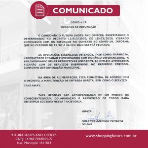 Comunicado Shopping Futura - Covid-19