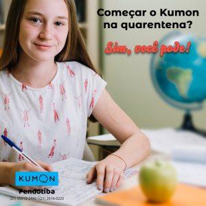 Meu filho pode iniciar os estudos no Kumon durante a quarentena?