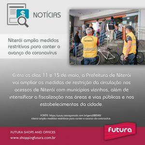Niterói amplia medidas restritivas para conter o avanço do coronavírus